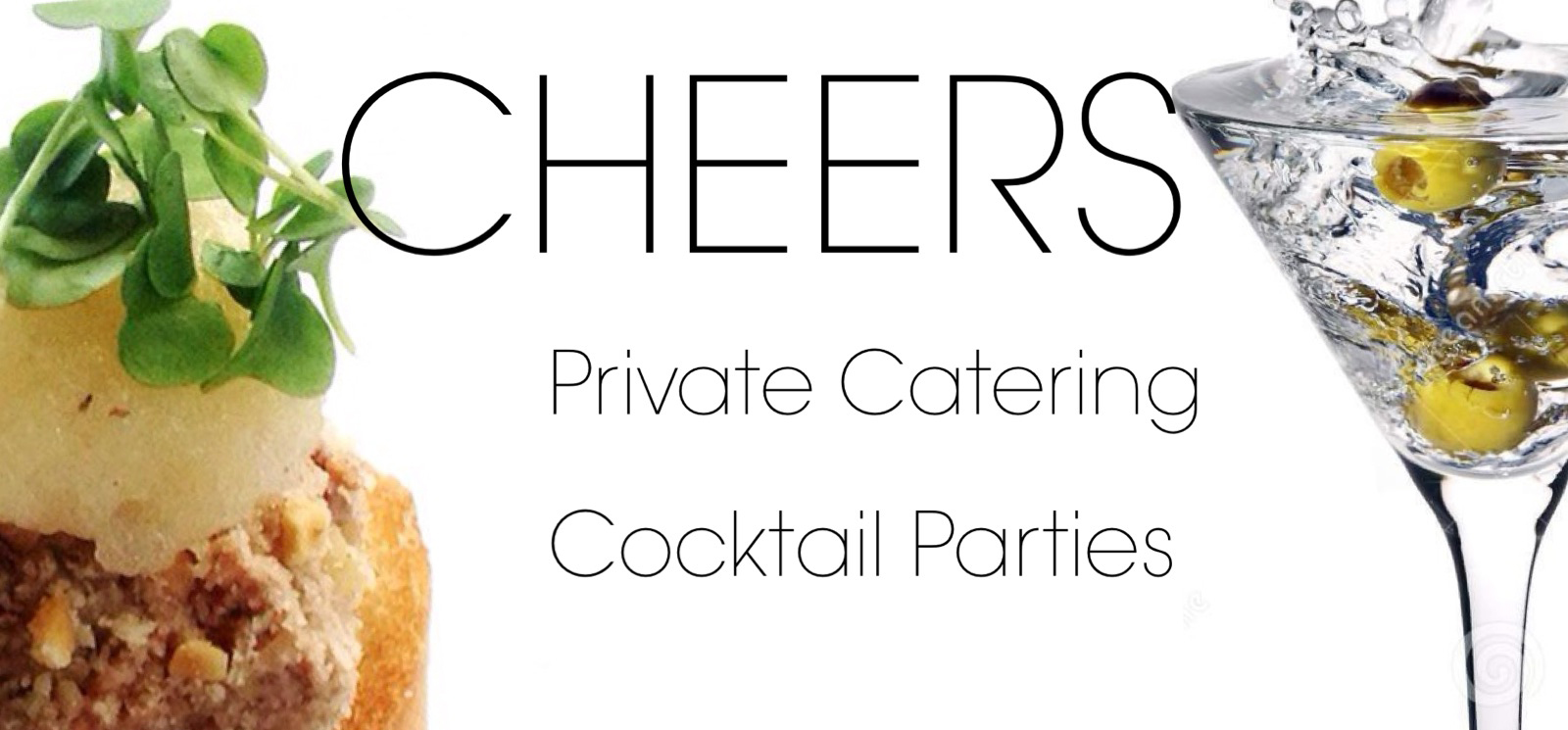 Cheers private catering heading