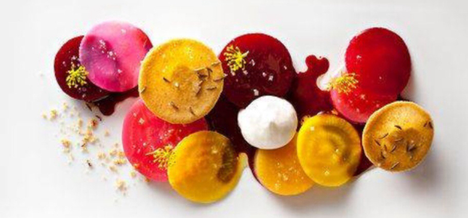 Colourful food on a plate